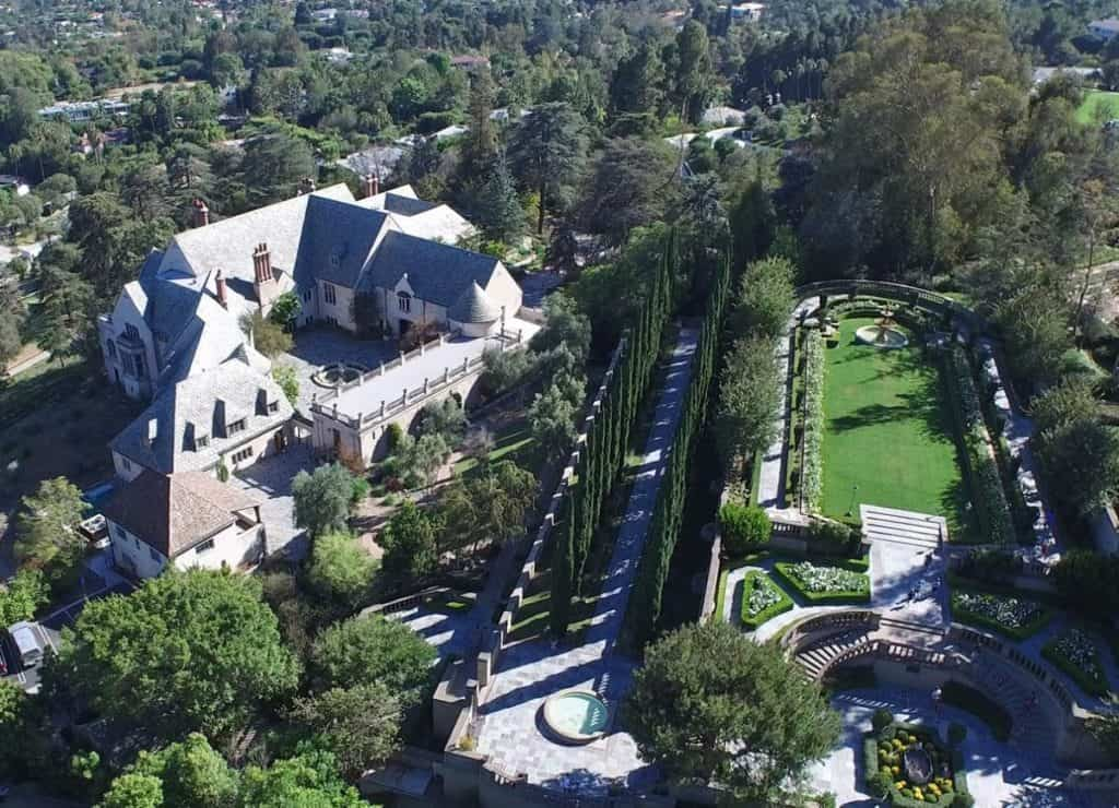 aerial view of Greystone Mansion